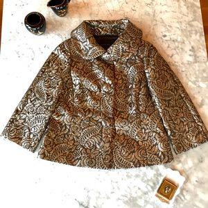 Metallic Silk Brocade Jacket